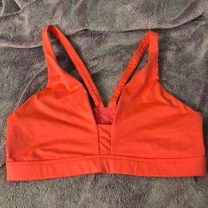 Strapped VS sports bra. Bright coral